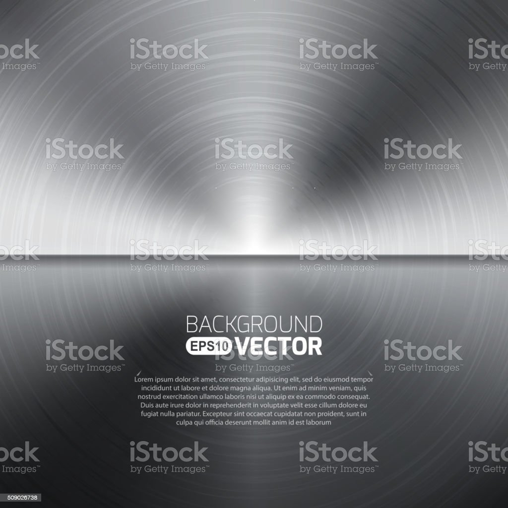 Seamless circle metal texture background. Vector vector art illustration