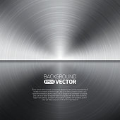 Seamless circle metal texture background. Vector