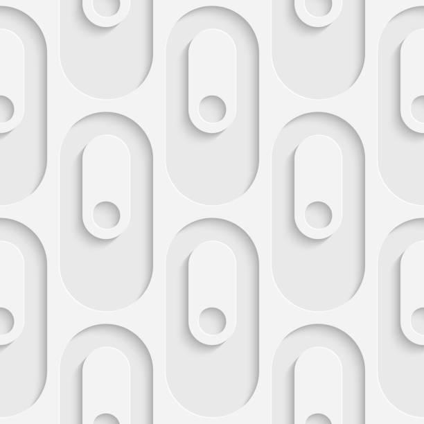 Nahtlose Kreismuster – Vektorgrafik