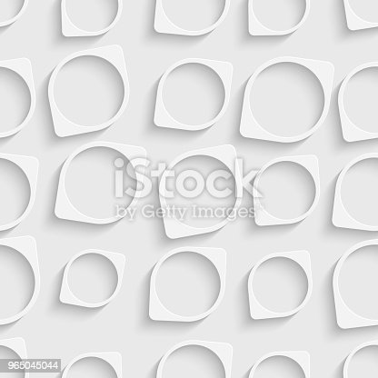 Seamless Circle Pattern Stock Vector Art & More Images of Abstract 965045044