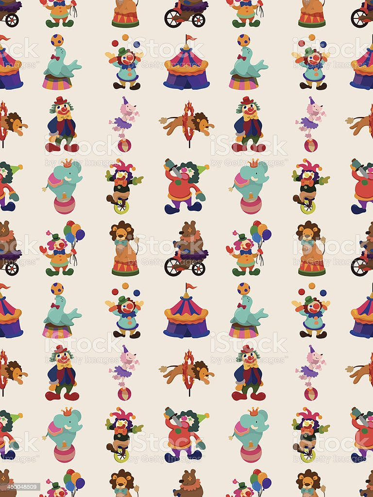 seamless circus pattern vector art illustration