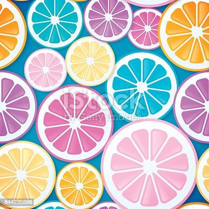 Seamless Citrus Fruit