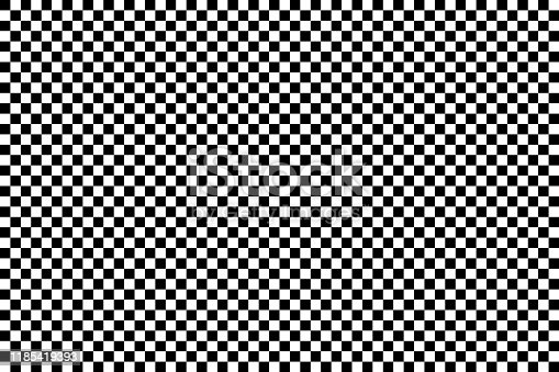 Seamless classic background of black and white squares. Vector illustration.