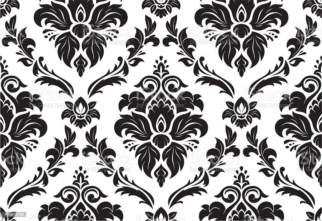 Seamless classic pattern vector art illustration