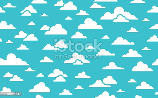 Seamless abstract clouds background pattern.