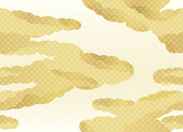Seamless clouds pattern in the Japanese traditional style, vector illustration. Seamless clouds pattern in the Japanese traditional style, vector illustration. Horizontally and vertically repeatable. japanese culture stock illustrations