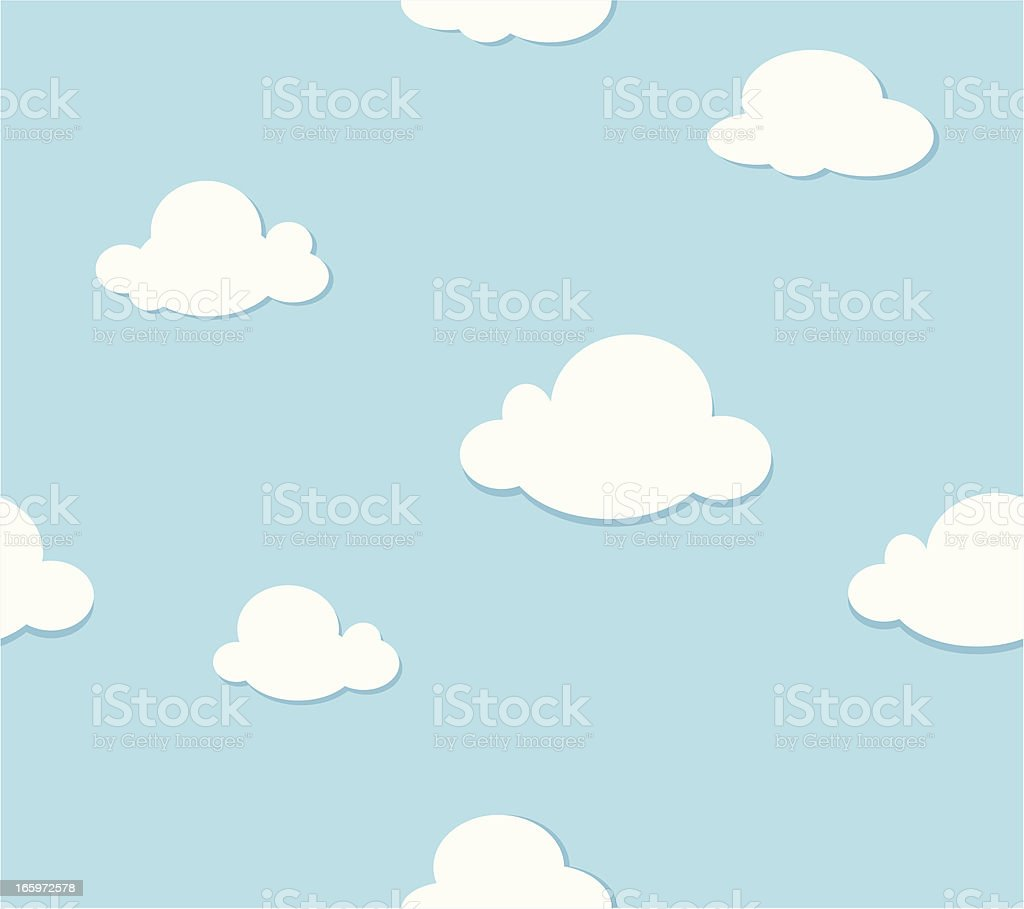 Seamless Clouds Pattern royalty-free stock vector art