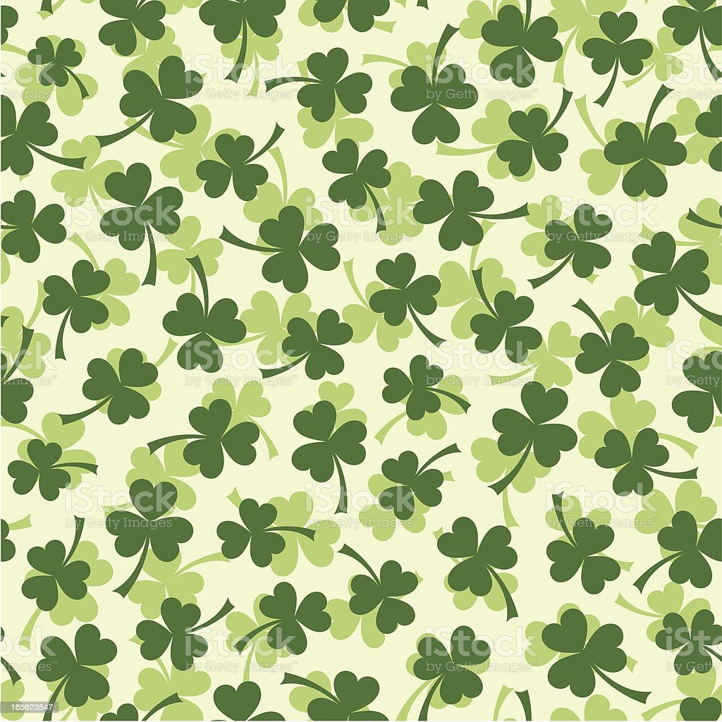 Seamless clover leaf pattern royalty-free stock vector art