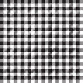 Seamless Vector Coarse Checkered Plaid Fabric Pattern Texture