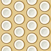 Seamless Coconut Pattern