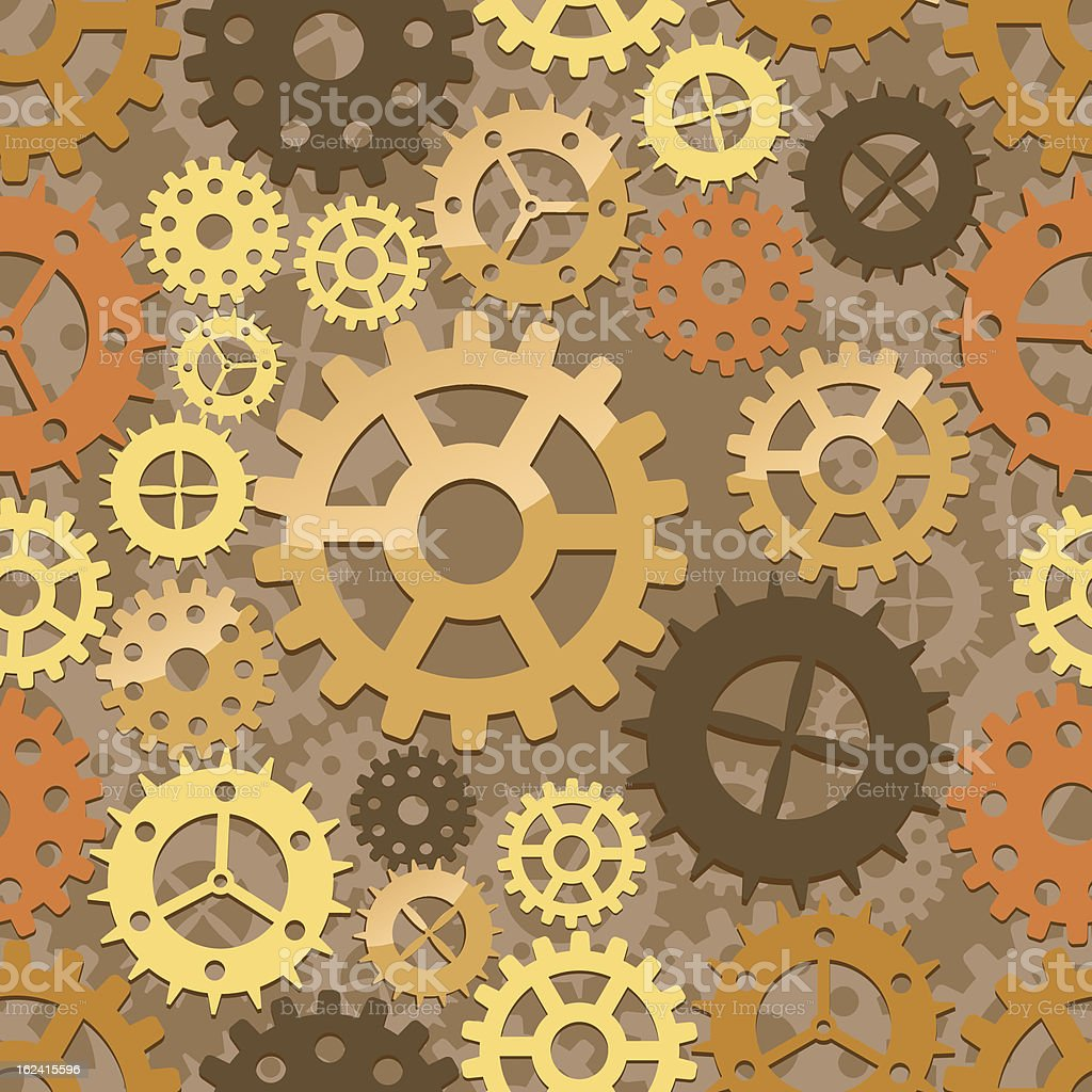 Seamless cogs background royalty-free stock vector art