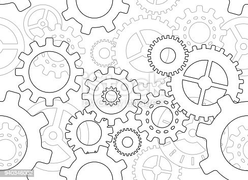 seamless cogs gears background