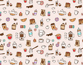 Beautiful food design elements, perfect for prints and patterns