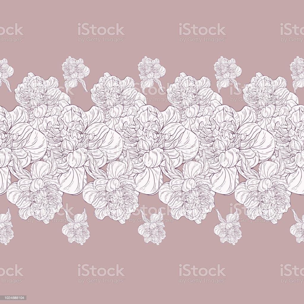 Ilustración de Patrón Del Textil De Color Transparente Planta En ...