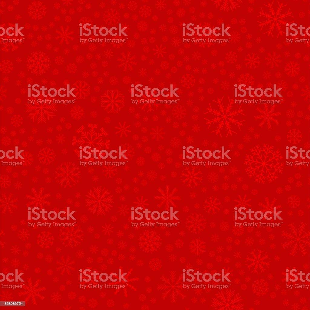 Nahtlose farbigen Schneeflocken Muster. Schneeflocken Hintergrund. Vektor-illustration – Vektorgrafik