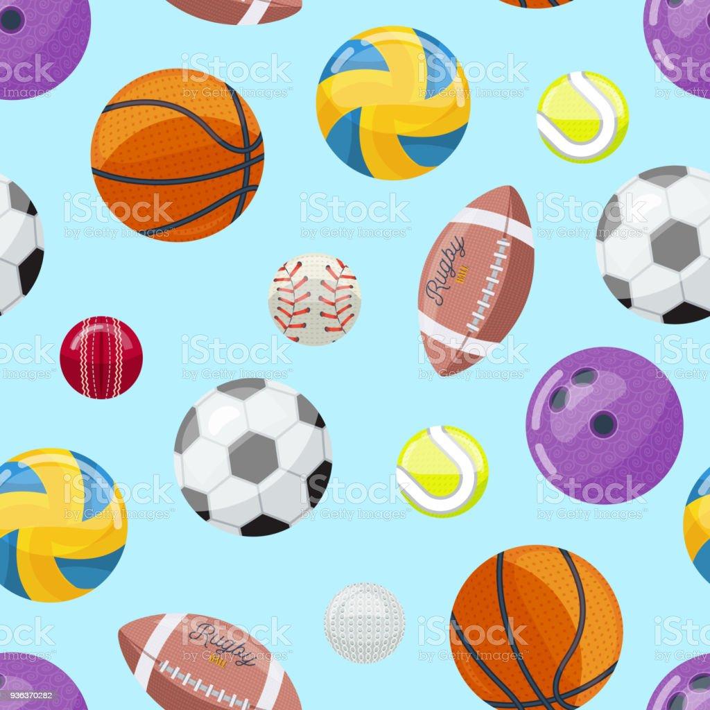 Fondo colorido transparente con pelotas deportivas ilustración de fondo  colorido transparente con pelotas deportivas y más ed14d9d8f889c
