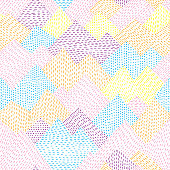 Easily editable seamless vector pattern on layers.