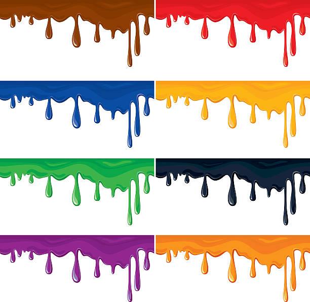 ilustrações de stock, clip art, desenhos animados e ícones de sem costura coloridas salpicos de tinta, isolado no fundo branco. - lian empty