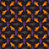 Seamless colorful wallpaper pattern. Abstract geometric vector background. Patterned paper for scrapbook Halloween albums.