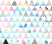 Seamless colorful pattern with geometric shapes