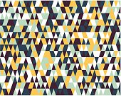 Seamless colorful pattern with triangles