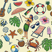 vector of seamless colorful summer pattern