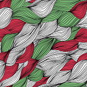 Colorfull seamless hand-drawn pattern