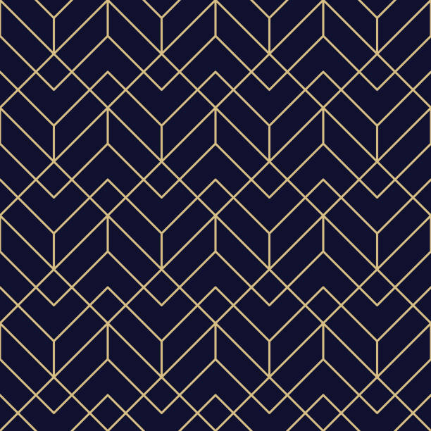 illustrazioni stock, clip art, cartoni animati e icone di tendenza di seamless geometric pattern - pattern