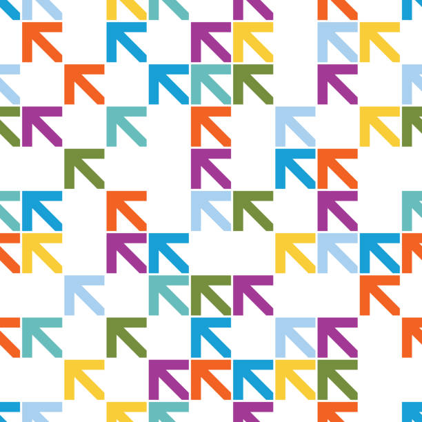 Seamless colourful arrow pattern background Seamless colourful arrow pattern background airport backgrounds stock illustrations