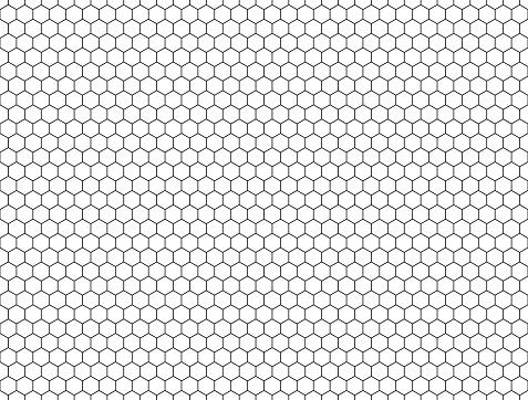 seamless contour  hexagon background