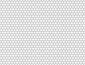 seamless contour  hexagon background