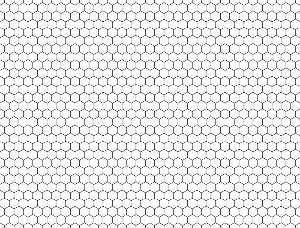 seamless contour  hexagon background seamless contour  hexagon background hexagon stock illustrations