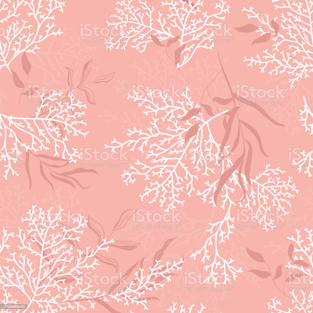 Seamless Coral Pattern Great For Summer Textile Print Or Wedding Invitations Cards Backgrounds Gifts Packaging Design Projects Surface Pattern Design