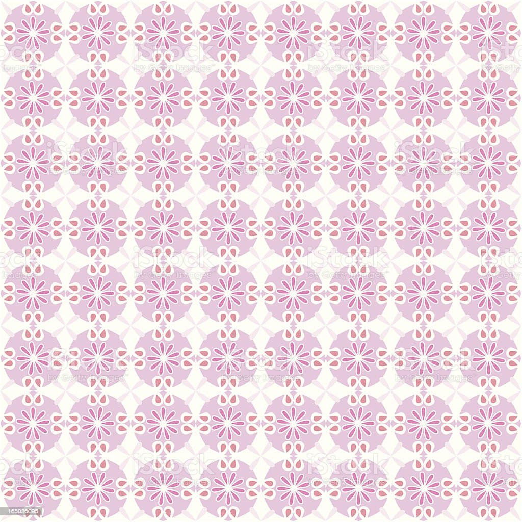 Seamless Country Style Flower Pattern ( Vector ) vector art illustration