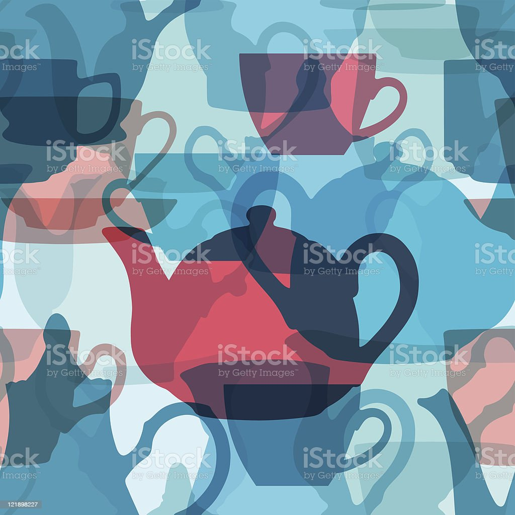 Seamless crockery background. Vector illustration. royalty-free stock vector art