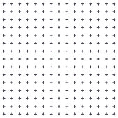 Simple seamless pattern of reagular geometric cross or plus signs on white background