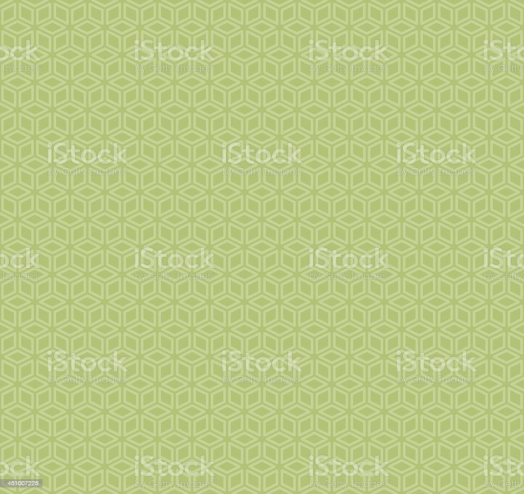 Seamless cubic pattern green royalty-free stock vector art