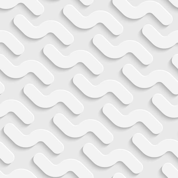 Nahtlose Kurve Hintergrund – Vektorgrafik