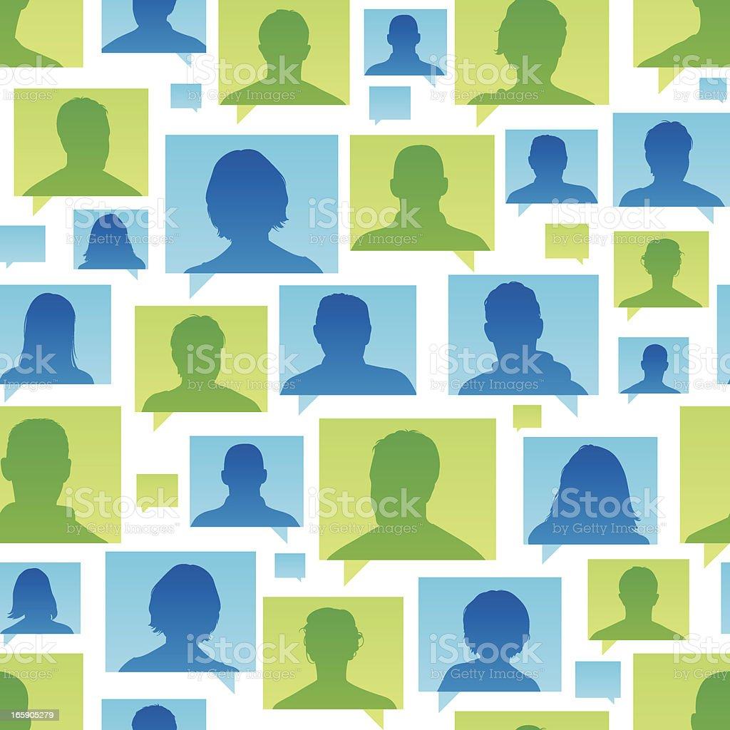 Seamless customer views royalty-free stock vector art