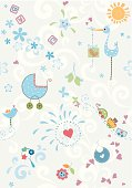 Textile / wallpaper baby seamless pattern. AI, EPS, TIF and JPG.