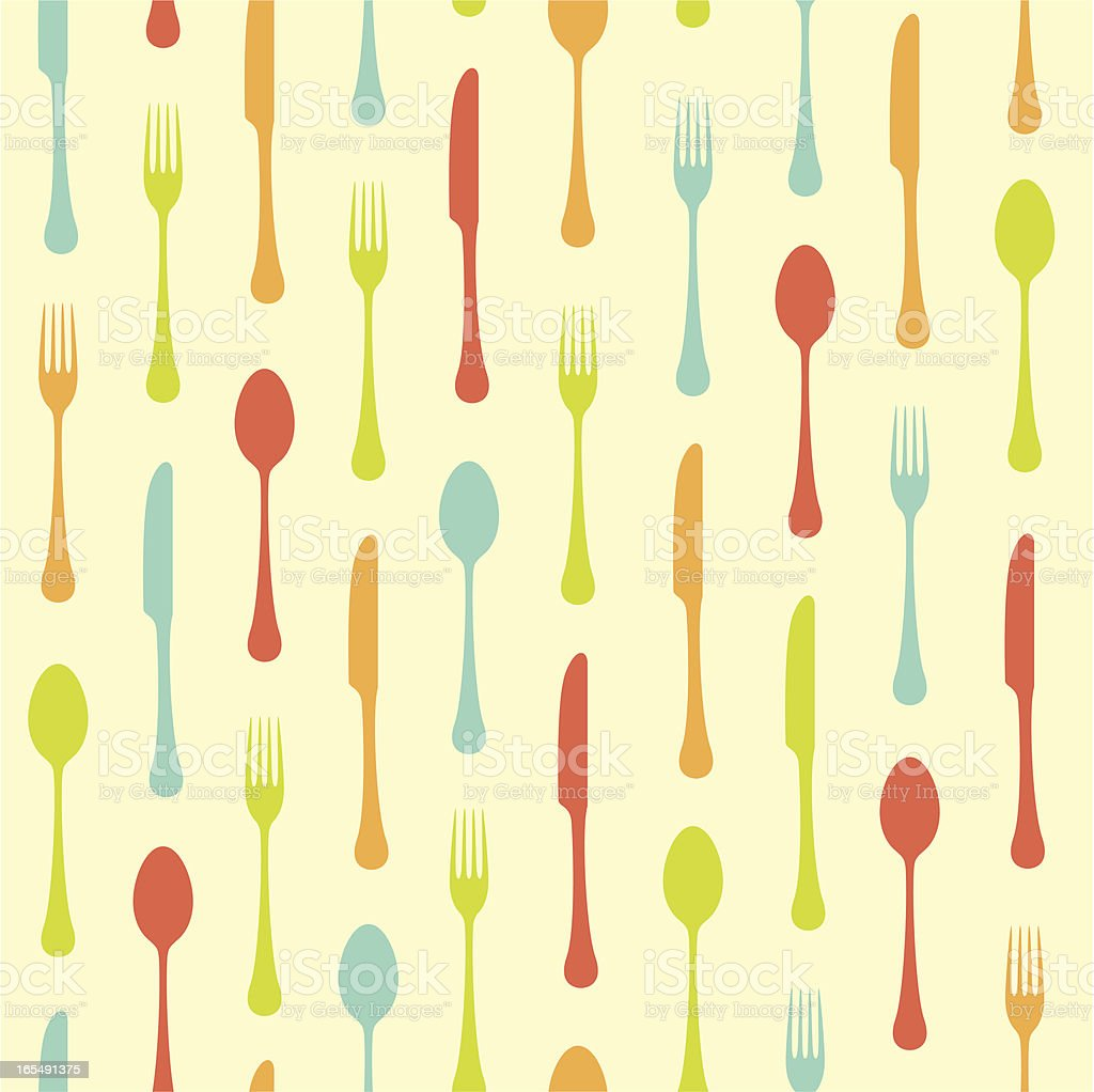 Seamless cutlery background royalty-free seamless cutlery background stock vector art & more images of backgrounds