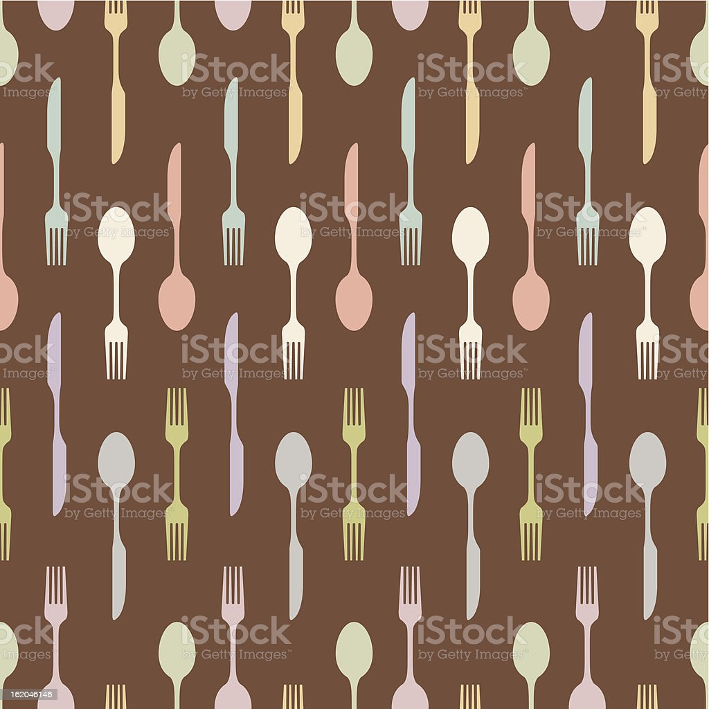seamless cutlery crosses royalty-free stock vector art