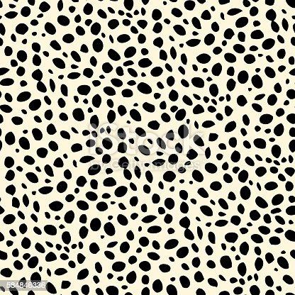 istock Seamless dalmatian spotted skin pattern 584846336