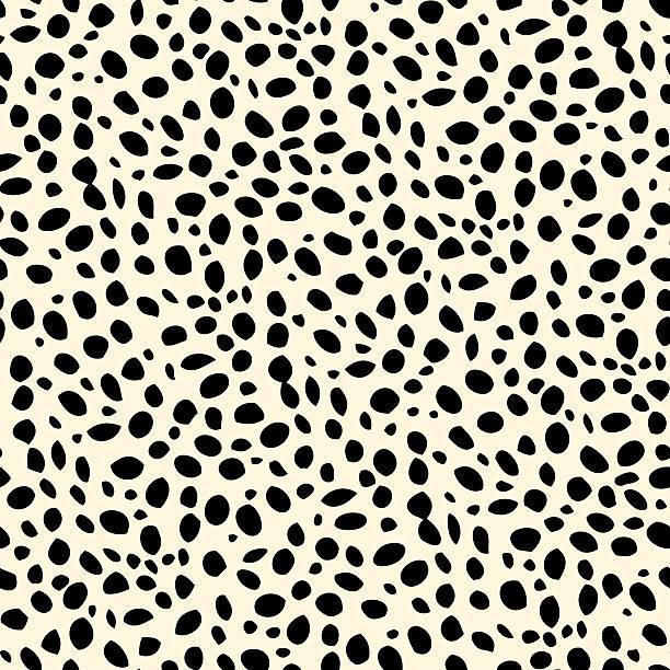 Seamless dalmatian spotted skin pattern Seamless animal skin print animal markings stock illustrations