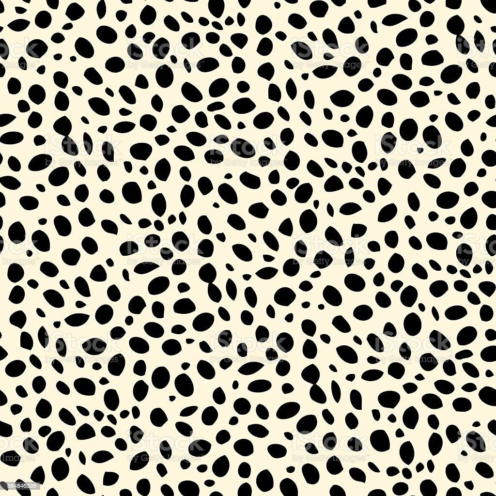 Seamless dalmatian spotted skin pattern vector art illustration