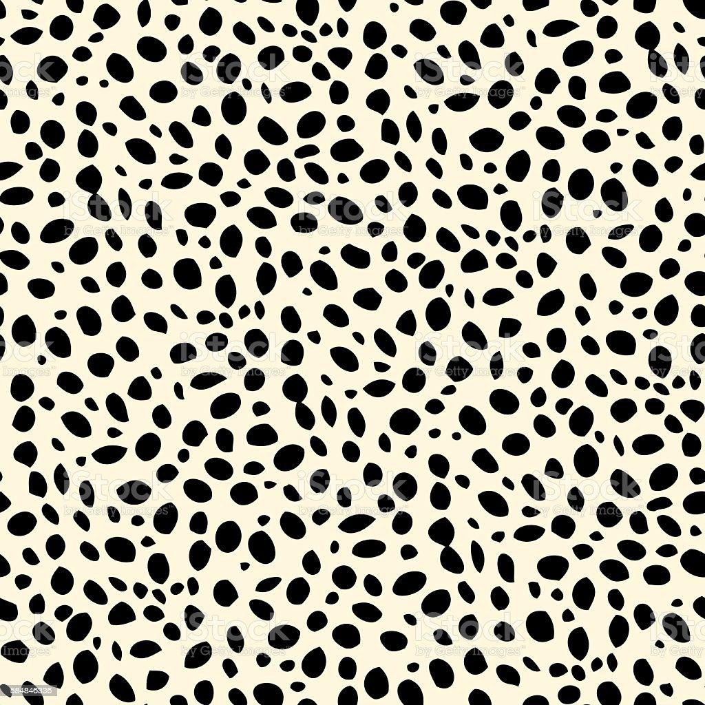 Seamless dalmatian spotted skin pattern - ilustração de arte em vetor