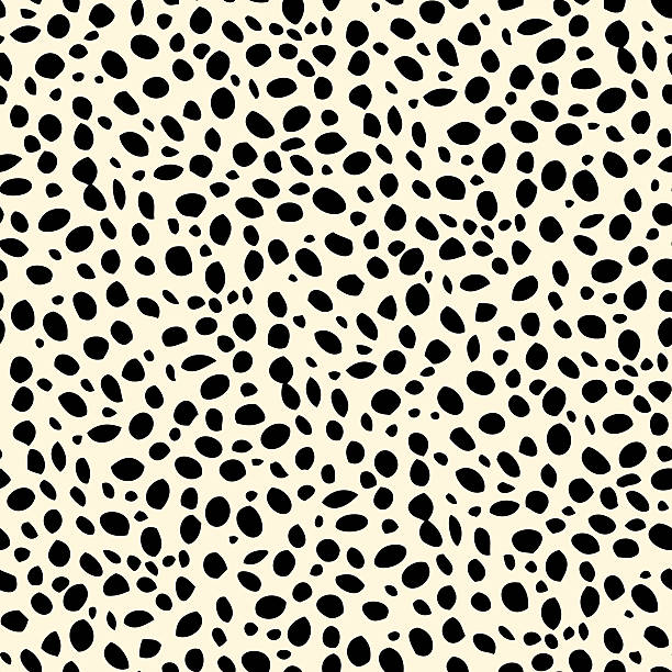 Seamless dalmatian spotted skin pattern - Illustration vectorielle