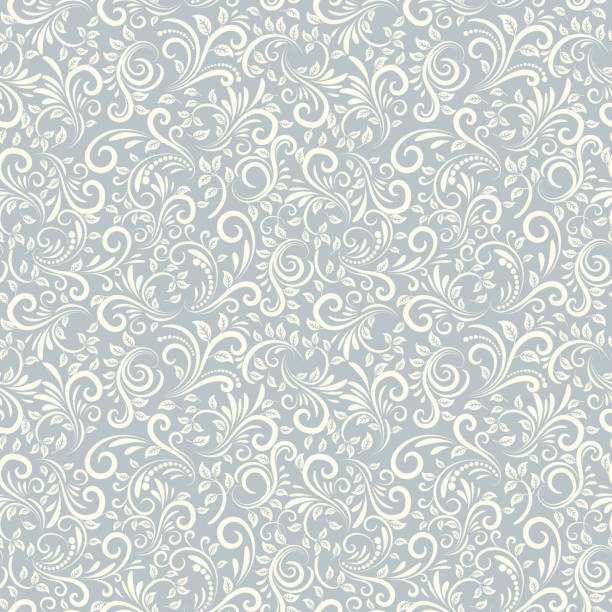 seamless damascus background - floral and decorative background stock illustrations