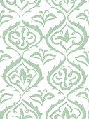 istock Seamless damask pattern, floral decorative background. Stylized flowers. 1220751593