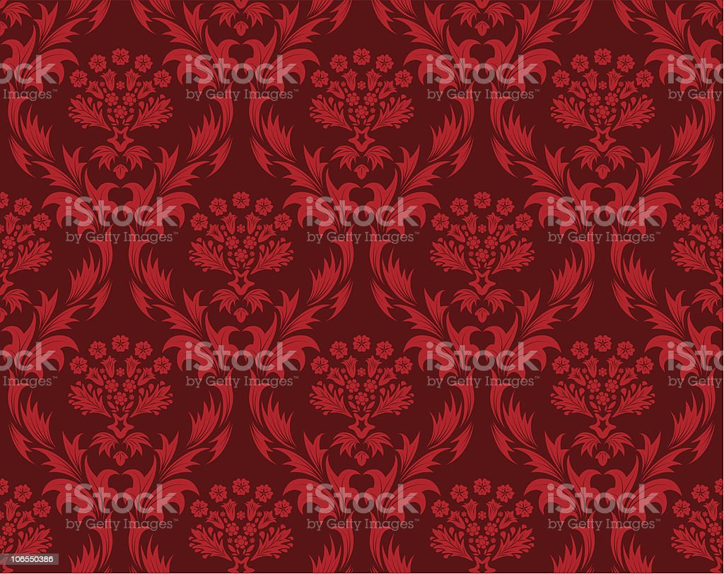 seamless damask pattern royalty-free stock vector art